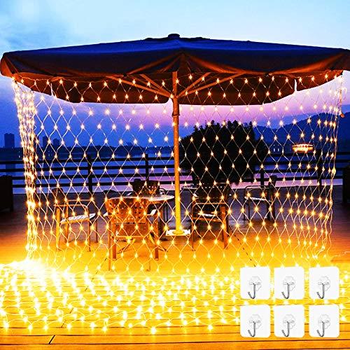Rete di luci a LED, 3 x 2m Catene Luminose, Tenda Luminosa USB, 238 LEDs Catene Luminose, Luci per Tende a LED, Natalizie Decorative da Esterno e Interno per Festa, Matrimonio, Giardino, Natale