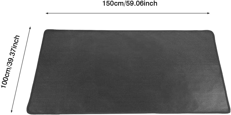 Chimenea Barbacoa y Parrilla Dough.Q Alfombra ign/ífuga Multicapa 50 x 80cm Protector de Suelo para Estufa