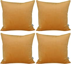 4 Pack Soft Velvet Cushion Covers,Comfortable Decorative Square Throw Pillow Covers for Sofa Bedroom Couch(Cover Only,No I...