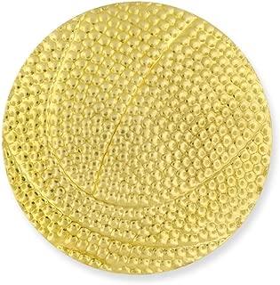 PinMart's Basketball Gold Chenille Sports Lapel Pin