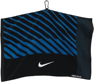 Nike Face/Club Jacquard Towel, Black/White/Military Blue
