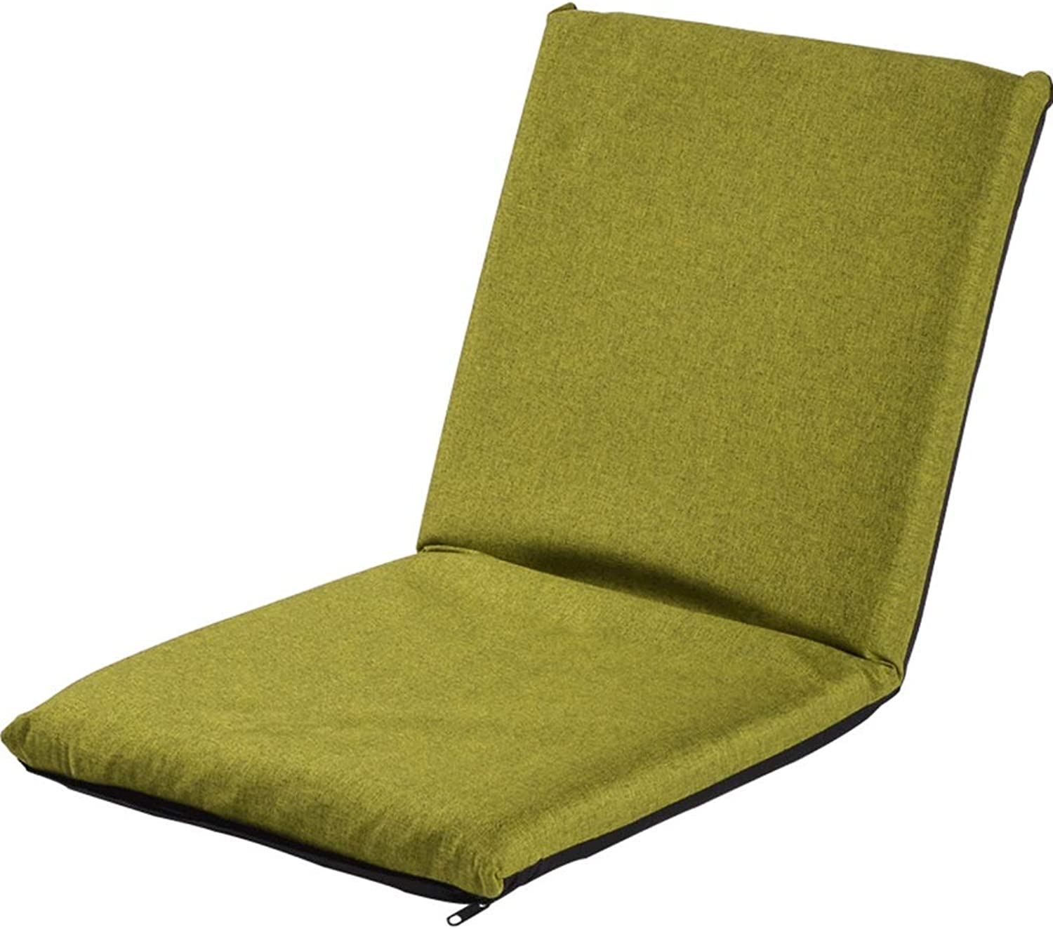 Floor Lazy Couch Chair - Single Legless Chair Multi-Function Bed Chair Leisure Lounge Chair, Adjustable Relaxing Lazy Sofa Seat (color   Green)