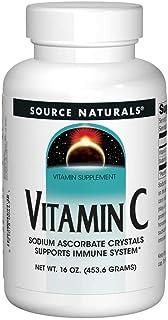Source Naturals Vitamin C Sodium Ascorbate Crystals - Quality, Pure Form Vitamin C Supplement - 16 Ounces