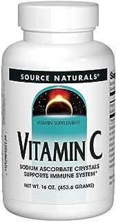 Source Naturals Vitamin C Sodium Ascorbate Crystals - Highest Quality, Pure Form Vitamin C Supplement - 16 Ounces