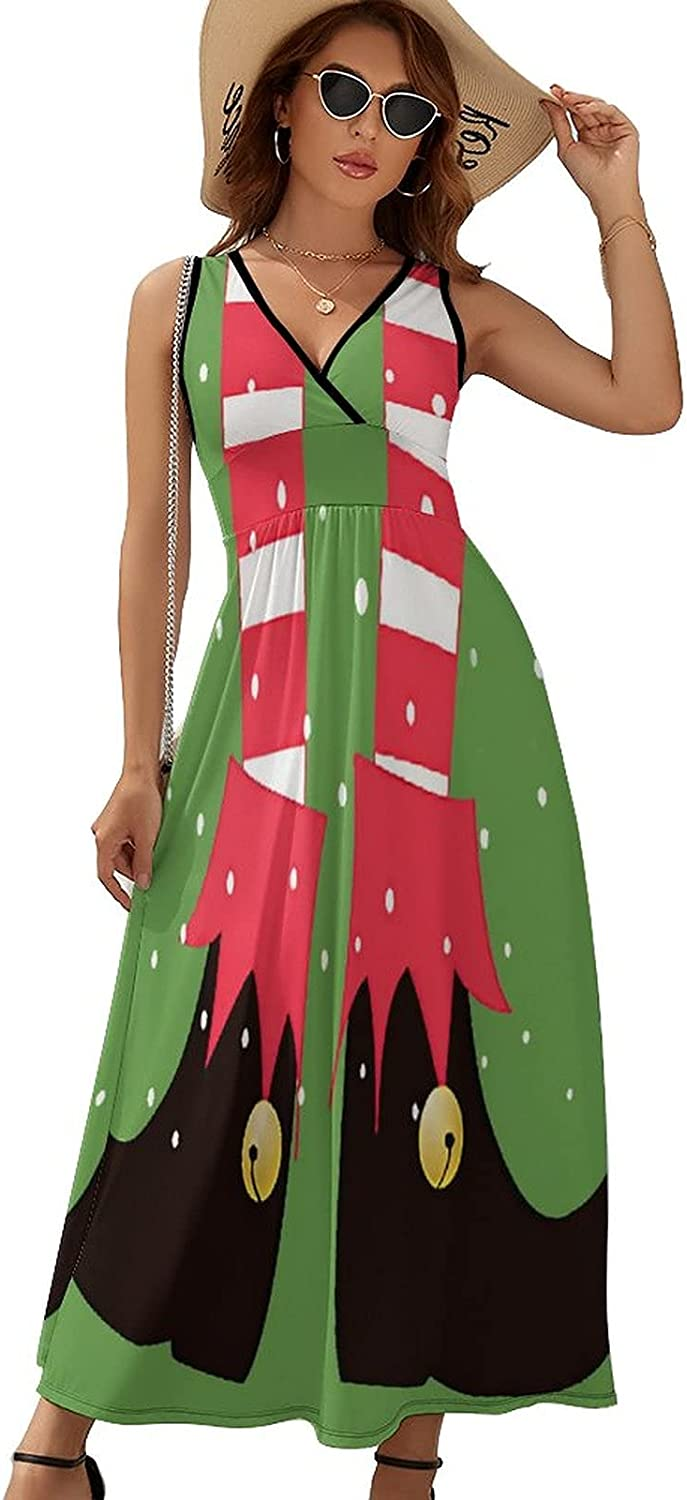 Very popular! Sleeveless Dresses for Summer Casual V Cactuses Red with Over item handling ☆ Flowers