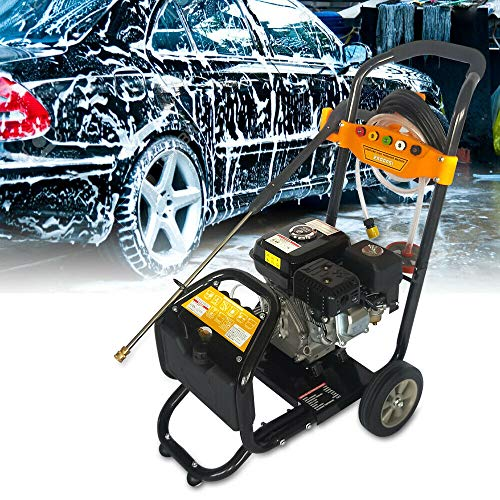Juego de limpiador de alta presión de gasolina, motor de 7,5 CV, chorro de vapor OHV, limpiador de superficie industrial, 170 bar, 9 l/min, máquina de limpieza, fresadora de suciedad