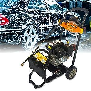 Limpiador de alta presión de Oukaning, 7,5 CV, motor de gasolina, con chorro de vapor, limpiador de alta presión de gasolina