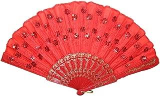 Das Kostümland Barock Handfächer mit Glitzer Pailletten - Tolles Accessoire zu Karneval, Mottoparty oder Festival