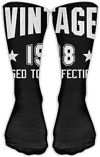 靴下 抗菌防臭 ソックス ユニセックスクラシックスソックスヴィンテージ1998年完全な18歳の誕生日スポーツストッキング
