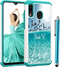 Voanice forGalaxy A30 Case,Samsung Galaxy A20 Case, Heavy Duty Shockproof Hybrid Phone Case Women Men Girls Hard Plastic & Soft Silicone Armor Dual Layer Rugged Protective Protection Cover -Teal Sea