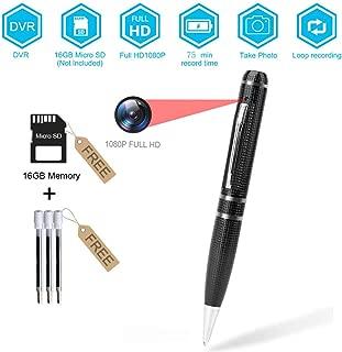 BSTCAM PVC-1080DVR 16GB Pen Hidden Camera for Window/Mac -16GB SD Card, Pen Cam, User manual -Black Clolor