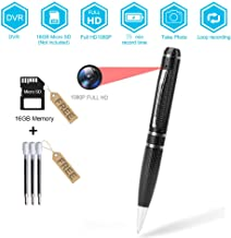 BSTCAM PVC-1080DVR 16GB Pen Hidden Camera for Window/Mac -16GB SD Card, Pen Cam, User manual -Black Clolor