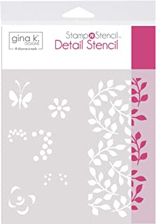 Gina K. Designs for Therm O Web 18125 StampnStencil Petals and Wings, White