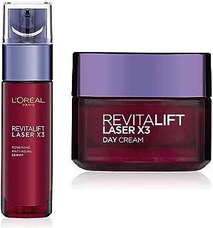 L'Oreal Paris Revitalift Laser X3 Renewing Anti-Ageing Serum, 30ml And L'Oreal Paris Revitalift Laser X3 Day Cream, 50ml
