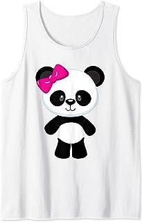 Bébé panda mignon avec un nœud Débardeur
