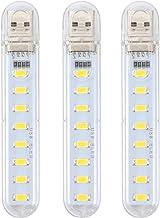 OSALADI Lâmpada noturna portátil de 3 peças USB luz prática de carregamento USB (luz quente)