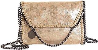 Sling Bag Women Chain Bag Fashion PU Leather Crossbody Bag Shoulder Bags Ladies Clutch Handbag KAVU Bag (Color : Gold)