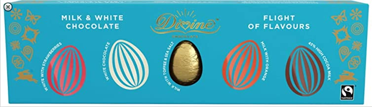 Divine Milk & White Chocolate Flights of Flavours Easter Eggs, 100g