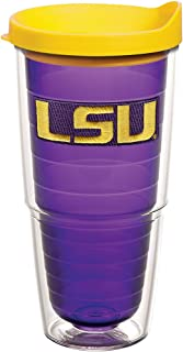 Tervis 1162997 LSU Tigers Logo Tumbler with Emblem and Yellow Lid 24oz, Amethyst