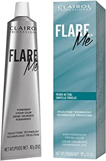 Clairol Professional Flare Me Hair Color, Tough as Teal,  2 Ounce