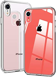 Miracase Designed for iPhone XR Case Clear Hybrid TPU Bumper Plastic and Acrylic Back Cover Thin Slim Lightweight Crystal Transparent Case for Apple iPhone XR 6.1 Inch (Clear)