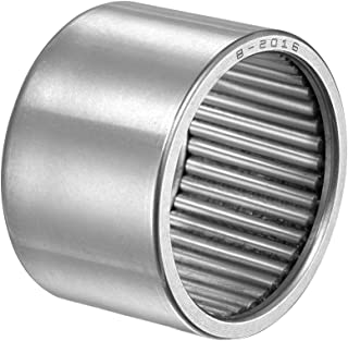 Full Complement Drawn Cup 1-3//8-inch OD 3//4-inch Width 12900N Static Load 6060N Dynamic Load 3800Rpm Limiting Speed 2pcs Open uxcell B1812 Needle Roller Bearings 1-1//8-inch I.D