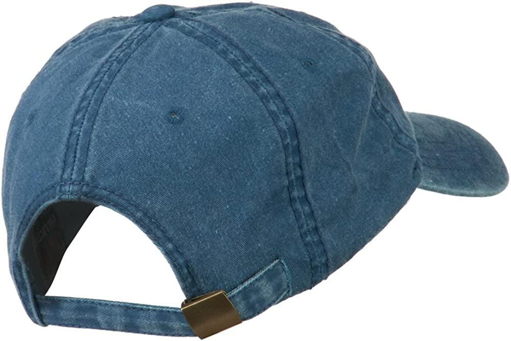 e4Hats.com Smile Face Embroidered Washed Cap