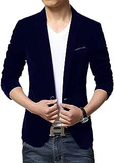 Men's Slim Fit 1 Button Velvet Blazer Tuxedo Dinner Jacket
