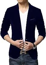 Liveinu Men's Slim Fit 1 Button Velvet Blazer Tuxedo Dinner Jacket