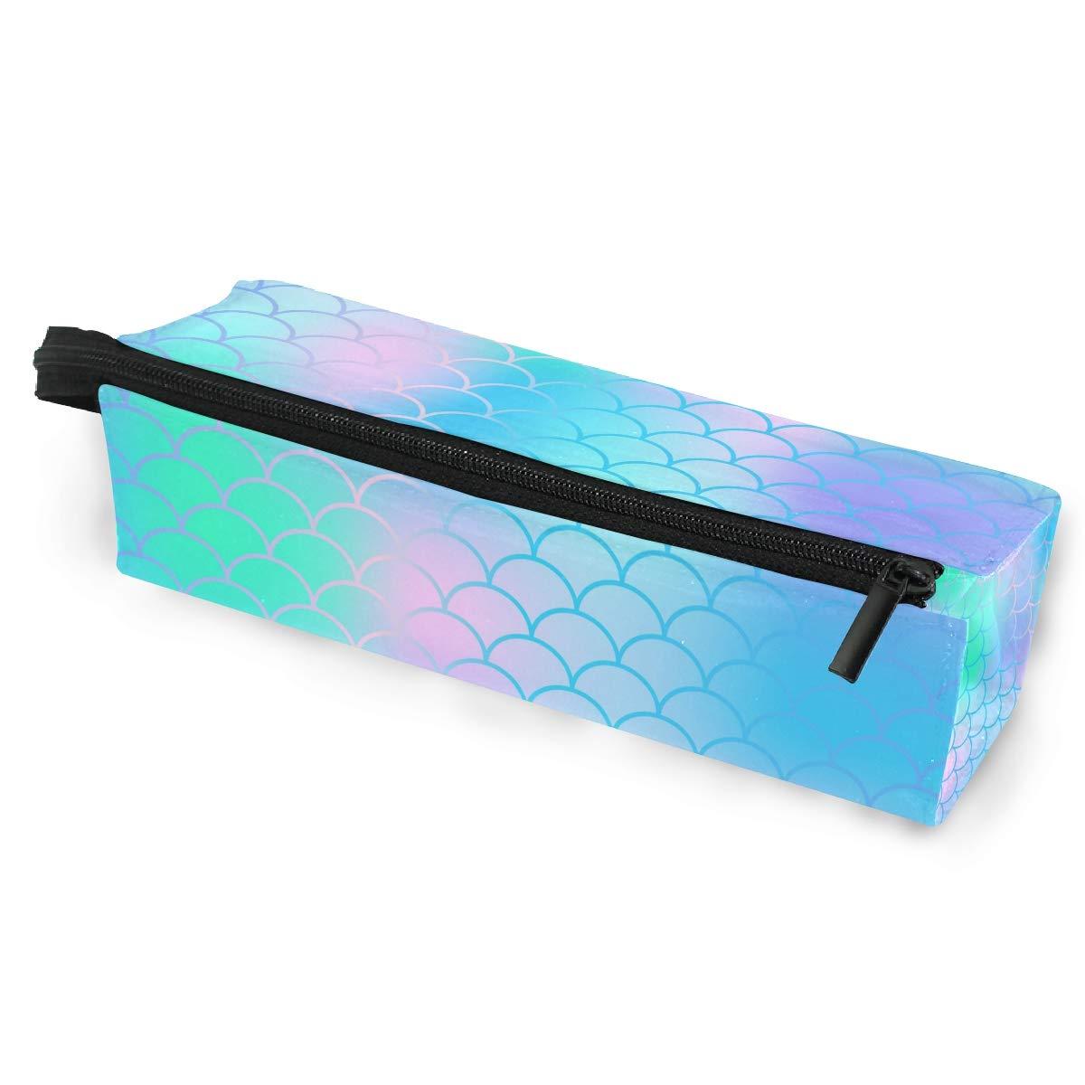 Magic Rainbow - Estuche portátil para gafas de sol, diseño de cola de sirena, caja suave para mujeres y niñas, con cremallera, color rosa, verde y morado: Amazon.es: Oficina y papelería