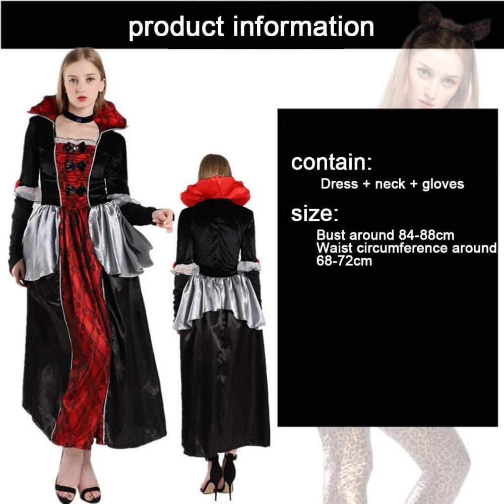 SPFAZJ Disfraz Halloween Adulto Bruja Demonio Horror el Papel de Vampiro Vestido Traje Fiesta: Amazon.es: Jardín