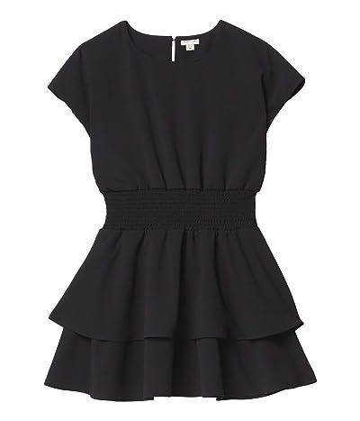 HABITUAL girl Multi Tiered Crepe Dress (Big Kids) (Black) Girl