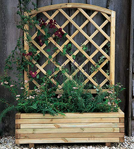 Forest Garden 1.35 m x 1 m Pressure Treated Wooden Toulouse Planter Including Trellis