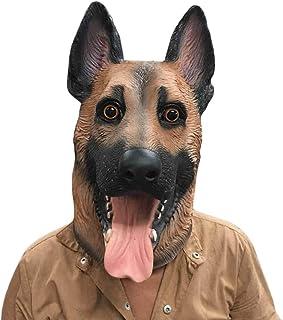 ZHANGDONGLAI Cabeza de Perro Máscara de látex Cara Completa Máscara for Adultos Transpirable Fiesta de Disfraces