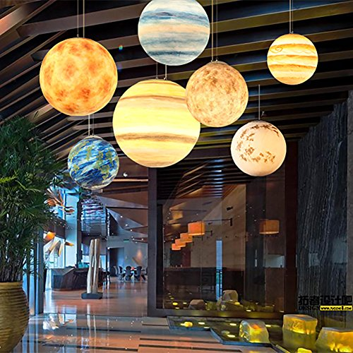 Moon Planet Pendentif Planet Cosmic Earth Lobby Modèle Créatif Café Lunar Hanger (Mars 30cm)