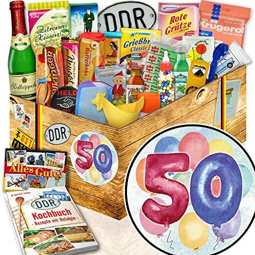 50. Geburtstag / Geschenkbox 24er Allerlei / Geschenke zum 60 Geburtstag
