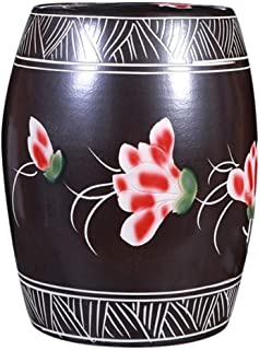 FANGFHOME Conteneurs De Stockage De Céréales Pot De Riz en Céramique Jingdezhen Seau À Riz en Céramique Domestique avec Co...
