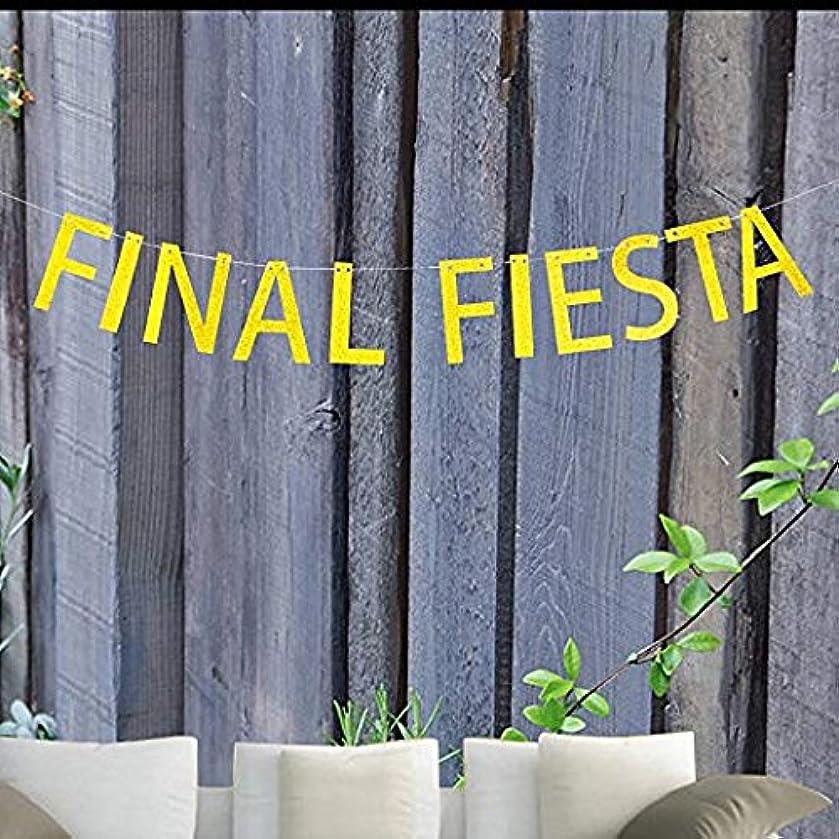 Final Fiesta Gold Glitter Banner By CelebrateU