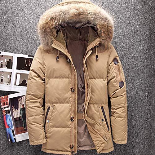 DPKDBN Heren Down Jacket, Winter Hood Eend Down Jassen -Mannen Warm Down Jassen Mannelijke Casual Winter Outerwer Down Parkas