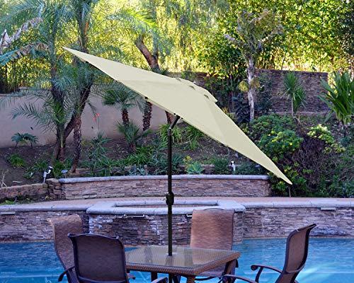 ABCCANOPY 9FT Pre Umbrella Replace Light Beige-05A