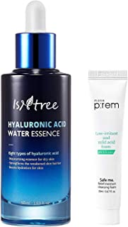 ISNTREE Hyaluronic Acid Water Essence Serum 50ml / 1.69 fl. oz. | 8 types of Haluronic Acid | Ultimate Hydration for Dry Skin | For all skin types | Korean Skincare