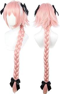 Linfairy コスプレ ウィッグ + ちょう結び3個 耐熱 ウィッグ コスチューム用小物 L37 お祭り cosplay wig 90CM