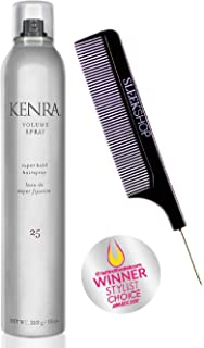 Kenra VOLUME SPRAY 25, Super Hold Hairspray (Stylist Kit) Aerosol Hair Spray (10 oz / 283 g, ORIGINAL SIZE)
