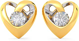 Joyalukkas 22KT Yellow Gold Stud Earrings for Girls