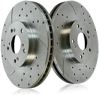 TA032682 Max Brakes Rear Elite Brake Kit E-Coated Slotted Drilled Rotors + Metallic Pads Fits: 2003 03 2004 04 2005 05 Nissan Murano