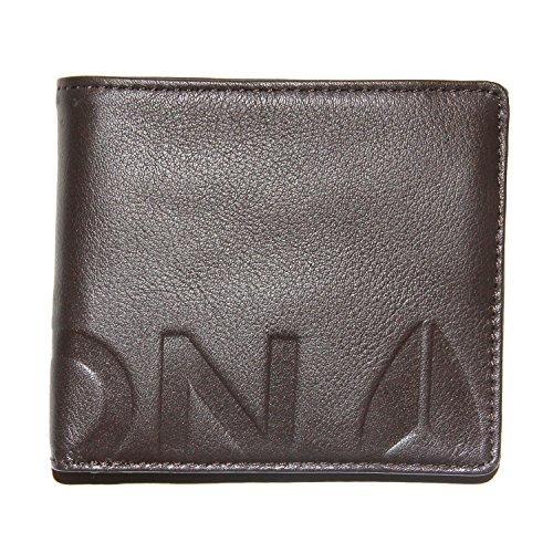 Nixon Fuller Bi-Fold Zip Coin Wallet Geldbörse braun