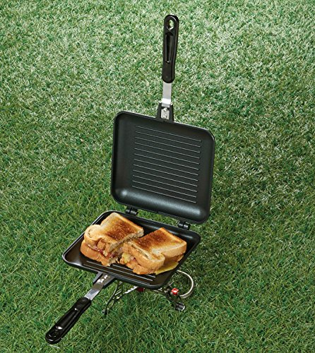 TF Gear Camping Sandwich Toaster Grill, Cooks Toasties, Breakfast and More! Ideal for Fishing 4