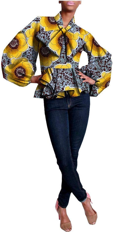 African Shirts For Women Ankara Dashikis Wax Prints Attire Casual Clothing 282 M