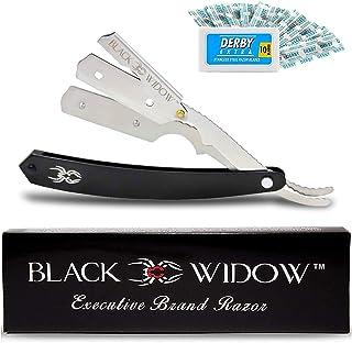 Barber Straight Razor, Professional Barber Straight Edge Razor - Barber Razor Compatible with Straight Razor Blade for Bar...