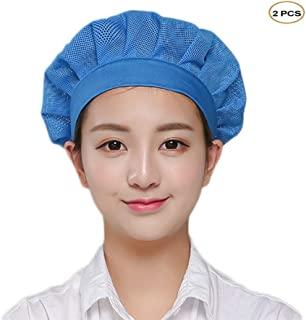 Chef Mesh Hat Elastic Band Kitchen Hair Net Catering Cooking Breathable Cap Pack of 2